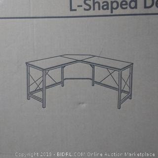 L-Shaped Desk Corner Table (Black)