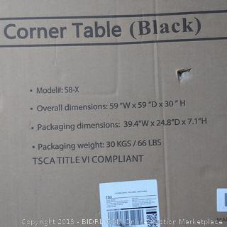 L-Shaped Desk Corner Table (Black)