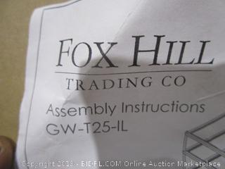 Fox Hill Trading Co Furniture/  1/2 glass chipped- other side is fine see pictures