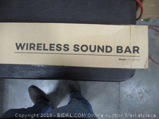 Wireless Sound Bar Powers On