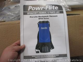 Powr-flite Pro Life Backpack Vacuum