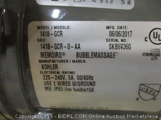Memoirs Bubblemassage Bath Tub