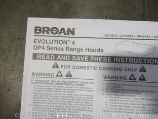 Broan Evolution 4 Range Hood