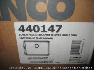 Blanco Precis Silgrant II Super Single Bowl Sink