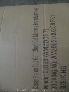 Classic Brands Cool Gel 12 Inch Gel Memory Foam Mattress, King