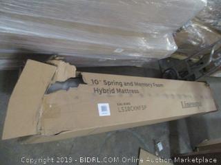 "Linenspa 10"" Spring and Memory Foam Hybrid Mattress, Cal King"
