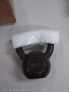 Cast Iron Kettlebell - 20 Pounds, Black