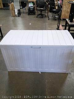 Resin Deck Storage Box Gray