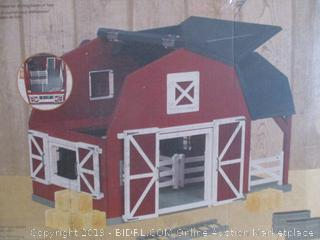 Terra by Battat – Wooden Animal Barn Playset