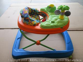 Safety 1st Dino Sounds 'n Lights Discovery Baby Walker with Activity Tray (missing piece)