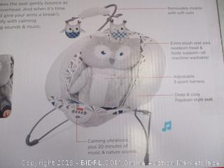 Fisher-Price - Owl Love You Deluxe Bouncer (missing hardware)