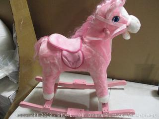 HollyHome - Plush Rocking Horse (Pink)