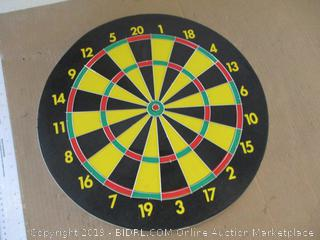 Two Sided Reversible Dart Board Game and Bullseye Target
