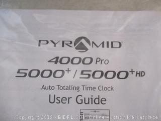 Pyramid 4000 Auto Totaling Time Clock ($269 Retail)