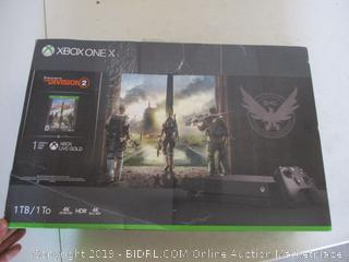 Xbox One X 1TB Console - Tom Clancy'sThe Division 2 Bundle ($399 Retail,  Factory Sealed, Opened For Picturing)