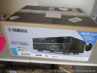 )Yamaha RX-V683BL 7.2-Channel MusicCast AV Receiver with Bluetooth ($349 Retail)