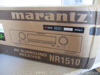Marantz NR1510 UHD AV Receiver (2019 Model) – Slim 5.2 Channel Home Theater Amplifier, Dolby TrueHD and DTS-HD Master Audio | Alexa Compatible | Stream Music via Wi-Fi, Bluetooth and HEOS (Factory Sealed, Opened For Picturing, $598 Retail)