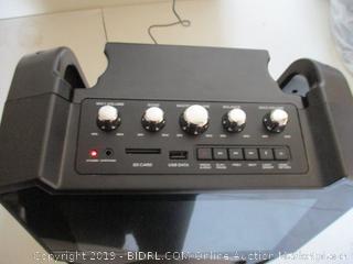 Karaoke USA Complete Wi-Fi Bluetooth Karaoke Machine with 9-Inch Touch Screen (WK849) (Powers On, $239 Retail)