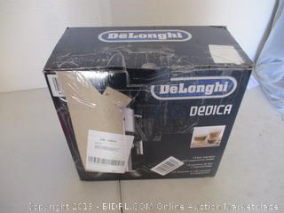Delonghi EC680M DEDICA 15-Bar Pump Espresso Machine, Stainless Steel (Powers On, $244 Retail)