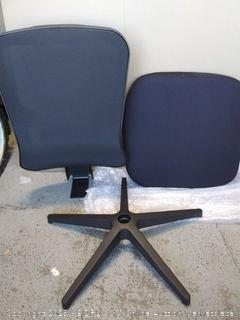Cedric Office Chair Home Computer Chair Ergonomic Adjustable Headrest PU-Armrest Lumbar Support Mesh Nylon CD-861FH  (online $189)