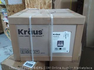 "Kraus 17"" Single Bowl Undermount Stainless Steel Square Kitchen(Factory Sealed) COME PREVIEW!!!! (online $198)"