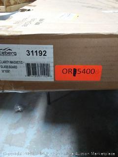 "Iceberg 31192 Magnetic Glass Dry Erase Board, 30""X50"", 0.125"" Height, 50"" Width, 30"" Length, (online $199)"