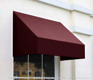 Awntech New Yorker Style Awning Auction - Burgundy 64.5 x 36 x 56 inches - (Online $646)