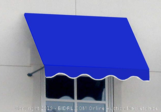 Awntech 3-Feet Dallas Retro Window/Entry Awning, 56 by 36-Inch, Bright Blue (Online $333)