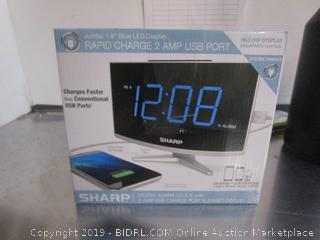 Sharp Alarm Clock W/USB Ports