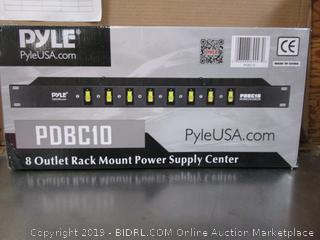 Pyle 8 Outlet Rack Mount Power Supply Center