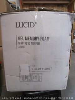 Lucid Gel Memory Foam Mattress Topper