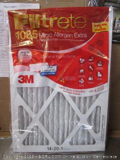 3M Filtrete House Air Filter 14x20x1