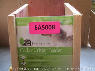 Cedar Critter Feeder