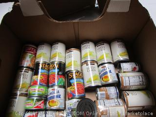 Box Lot Canned Food, Stagg Chili, Sweet Corn