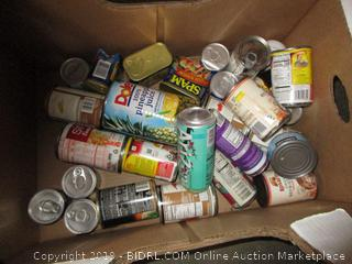 Box Lot CAnned Food, Dole, Beans