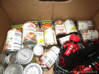 Box Lot Canned Food, Spam