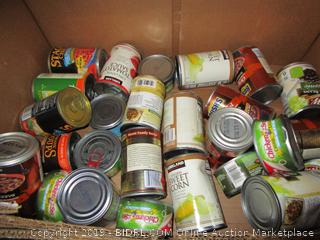 Box Lot Canned Food, Stagg Chili, Chicken of the Sea