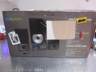 Eco-Green Mini Stereo System