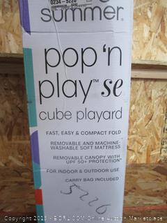 Summer Pop 'N Play Cube Playard