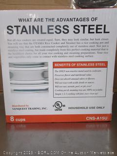 Oyama Stainless Steel Rice Cooker Steamer