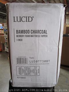 Lucid Bamboo Charcoal Memory Foam Mattress Topper