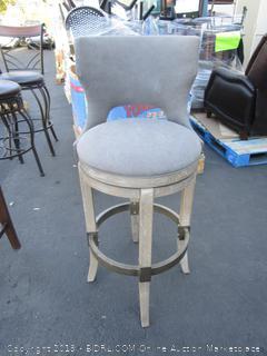 Gray Fabric Barstool Chair