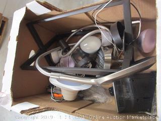 Misc. Box Lot Shower Head, Lights