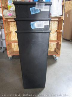 Lot of 3 Garbage Bins
