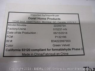 CosmoLiving by Cosmopolitan Liberty Sectional Storage, Green Velvet Futon