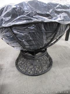 OSP Designs Papasan Chair, Black