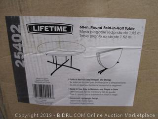 "Lifetime 60"" Round Fold-in-Half Table"