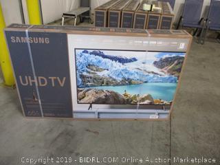 Samsung UN65RU7100FXZA Flat 65-Inch 4K UHD 7 Series Ultra HD Smart TV with HDR and Alexa Compatibility (Screen Broken)