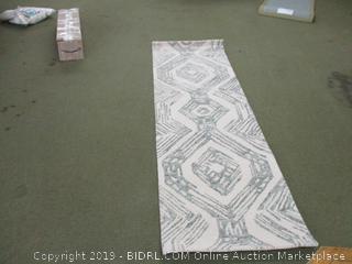 "Rivet Geometric Wool Runner Rug, 2' 6"" x 8', (Retail $80)"