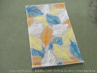 Well Woven FI-34-3 Firenze Amelia Modern Tropical Leaves Distressed Sunshine Accent Rug